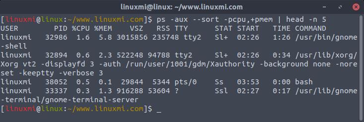 Linux常用命令 ps 入门基础教程