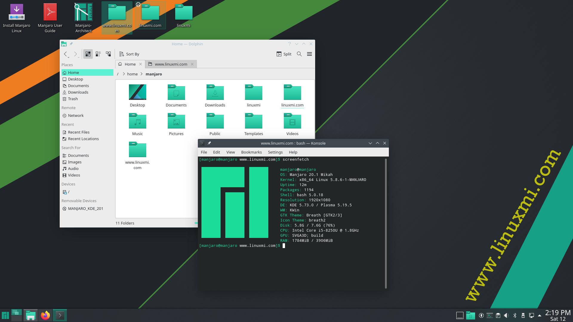 "Manjaro 20.1 ""Mikah"" 随附Linux 5.8,最新的 KDE Plasma 和 GNOME 桌面"