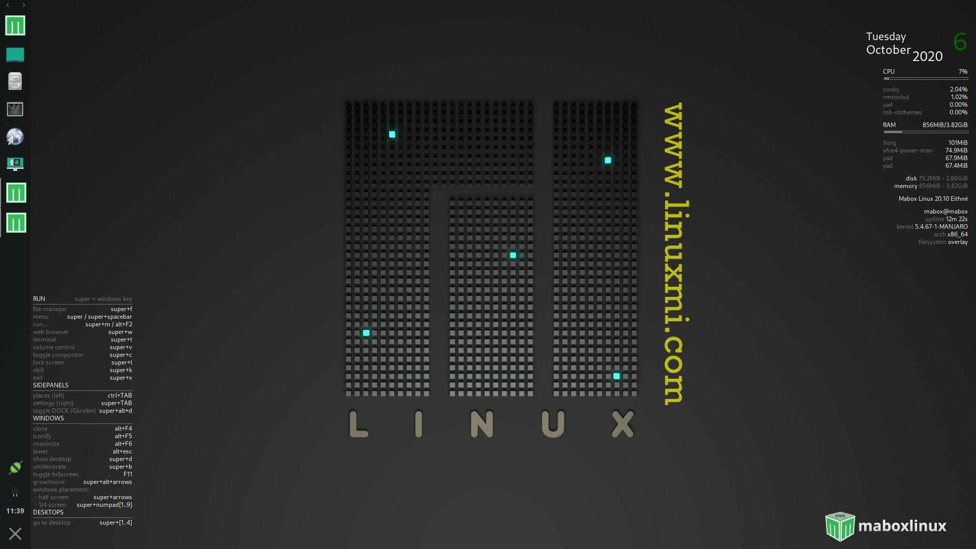 Mabox Linux 20.10 发布,Manjaro变体与轻量级Openbox
