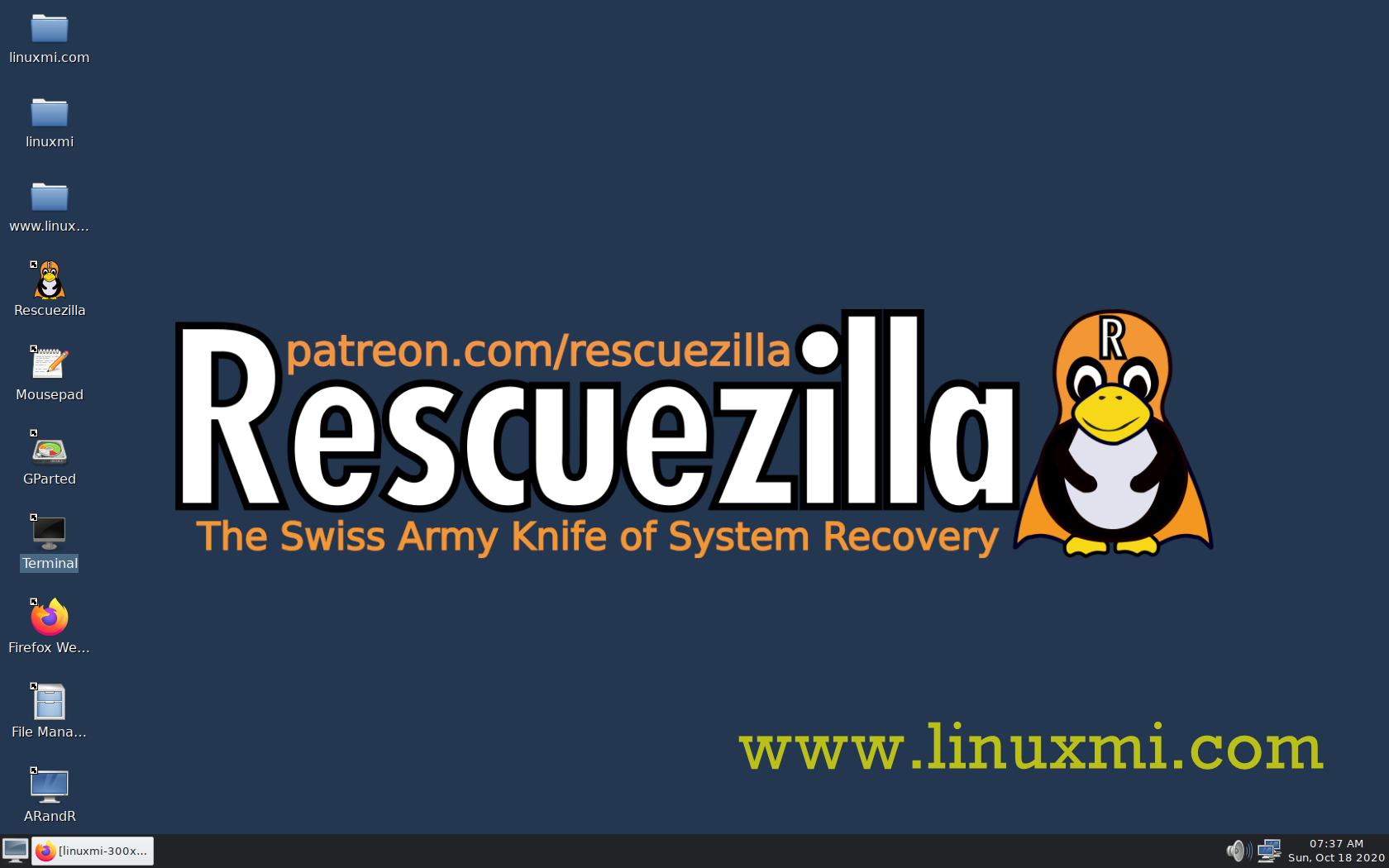 Rescuezilla 2.0 发布了,基于Ubuntu 20.04.1的系统恢复瑞士军刀