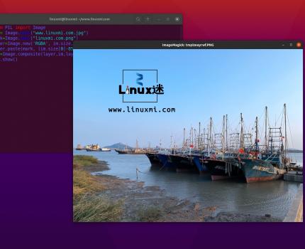 Python+OpenCV为图片添加中文水印与图片水印