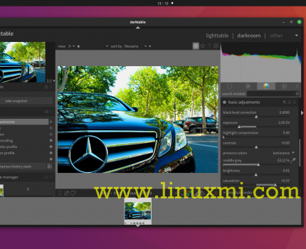 Darktable 3.4 发布,开源和跨平台RAW图像编辑器